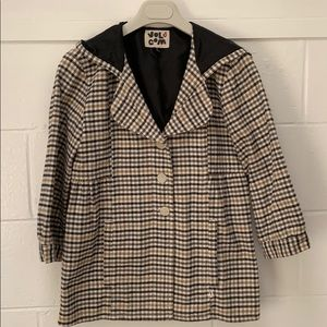 Volcom hooded plaid jacket size Small